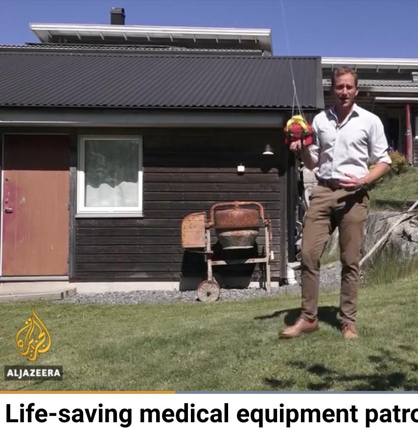 Life-saving medical equipment patrols Sweden skies