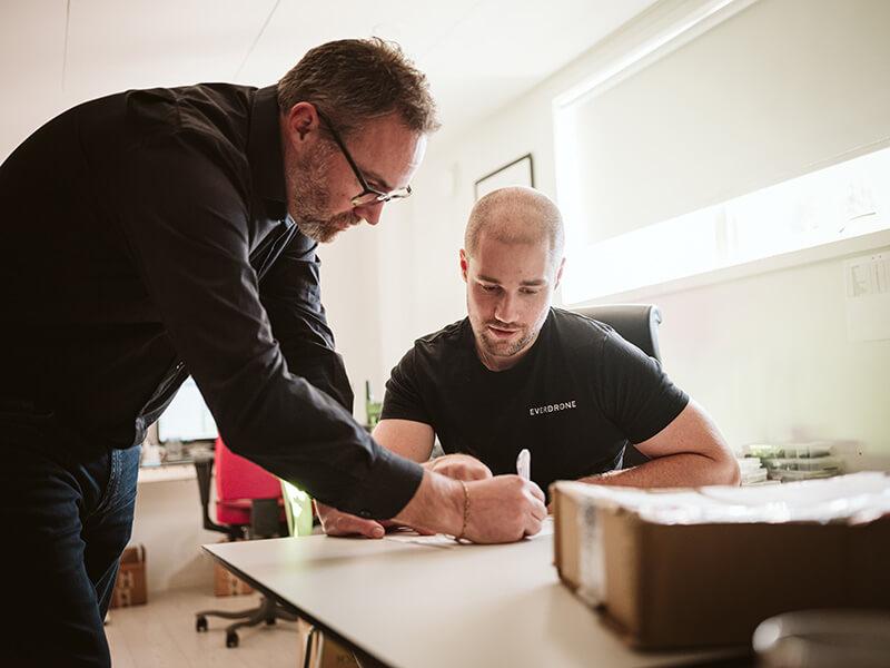 Daniel Blecher and Daniel Jonson drone test results