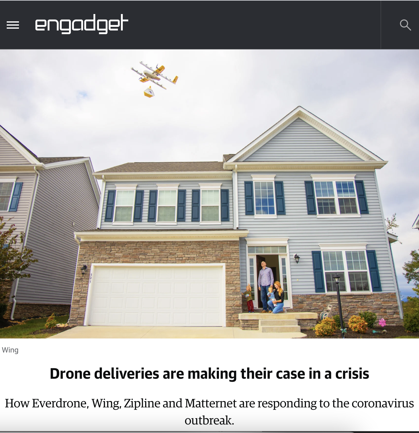 Drone deliveries are making their case in a crisis