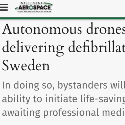 Autonomous drones are now delivering defibrillators in Sweden