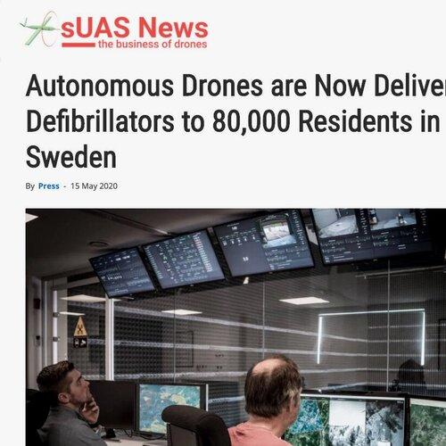 Autonomous Drones are Now Delivering Defibrillators to 80,000 Residents in Sweden